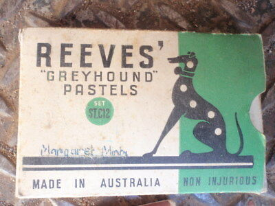 Reeves   Greyhound  Brand Crayons  1950's  School   use;
