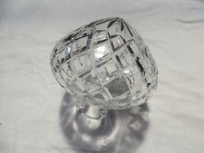 Vintage Antique Heavy Cut Crystal Table Lamp Boudoir Lampshade Top
