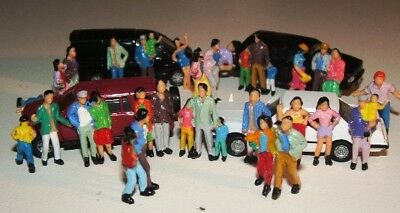 100 Figures Passengers People Hand painted HO 1/87 scale 19mm tall