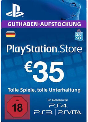 DE €35 EUR PLAYSTATION NETWORK Prepaid Card PSN PS3 PS4 PSP 35 Euro