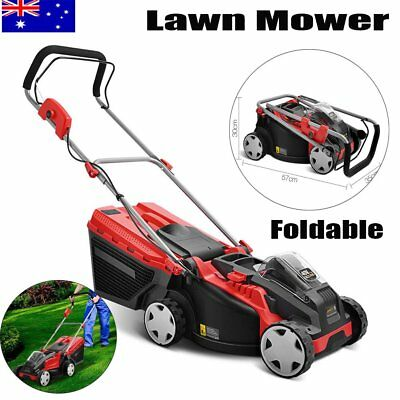 700W Lawn Mower Battery Powered Cutter Gardening Cordless Lawnmower Grass 40V