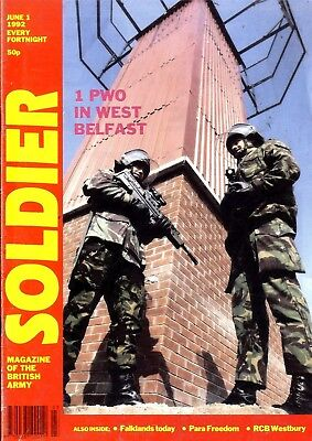 Soldier Magazine 1/6/92 Prince Of Wales Own Yorkshire Regiment In West Belfast