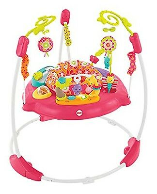 Fisher Price Petals Jumperoo Pink Baby Activity Centre Bouncer New Free Post