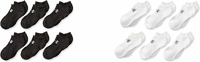 Under Armour Boys Charged Cotton 2.0 No Show Socks, 6 Pairs, 2 Colors