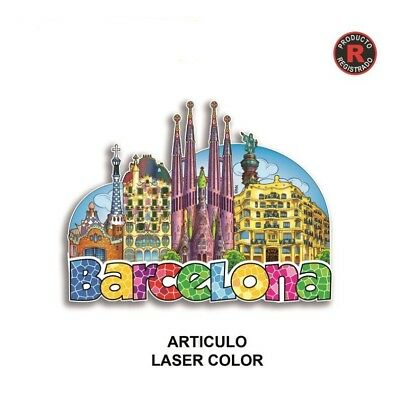 Barcelona Spain Fridge Magnet SOUVENIR SAGRADA FAMILIA colón pedrera travel gift