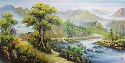 Chinese Landscape Scenery Oil Painting #5213
