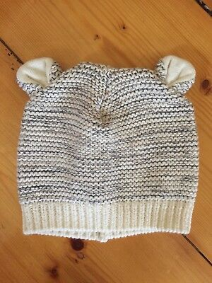 Seed Heritage Baby Newborn 100% Cotton Winter Beanie with ears. New without tags