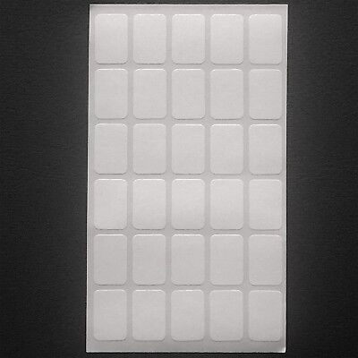19mm x 12mm 60 White Self Adhesive Labels Sticker Small Peel Stick OVER 380 SOLD