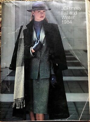Vintage 1984 Jc Penney Fall Winter Catalog Fashion Wedding Gowns Clothes