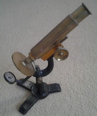 Vintage-Rare-Collectable Brass Microscope