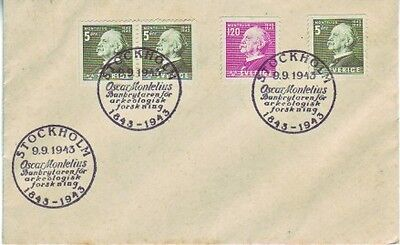 Sweden - Special Events, People & Anniversaries (2no. PO FDC's) 1943-45