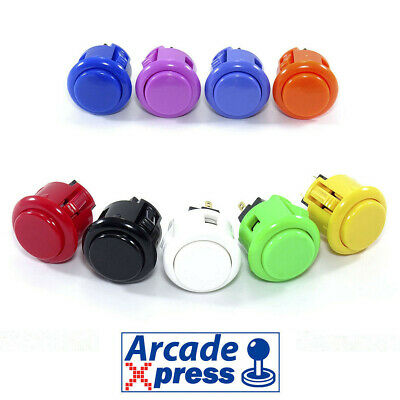 Boton Sanwa Arcade OBSF 24 Pulsador Original Japanese 24mm Push Button Bartop