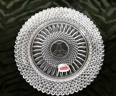 Avon Fostoria Glass Lead Crystal Plate 92nd Anniversary Prize 1978 Free Shipping