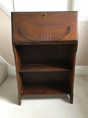 Vintage 1930's Bookcase Bureau Writing Desk