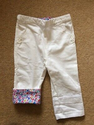 Never Worn Jojo maman Bebe White Clamdiggers 5-6 Years Old