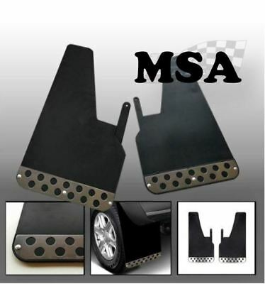 Black Rally Mudflaps Pair With Fittings/Universal Fit