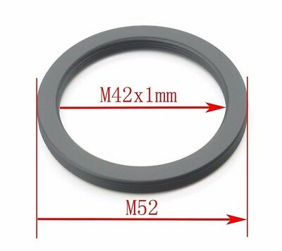 1pc M42x1 to M52 Screw Thread Lens Mount Adapter