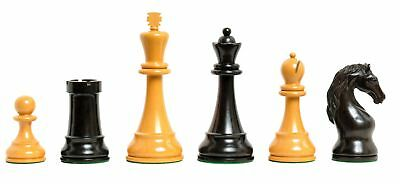 "The Steiner Series Chess Set - Pieces Only - 5.0"" King - Natural Boxwood and Gen"