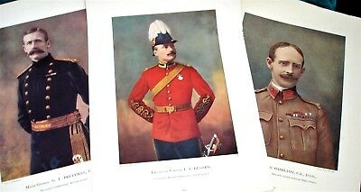 3 x British Army Commanders - Fine Art Lithographs - c1899