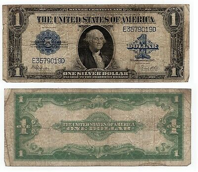 1923 $1 One Dollar Bill Large Note Blue Seal Silver Certificate