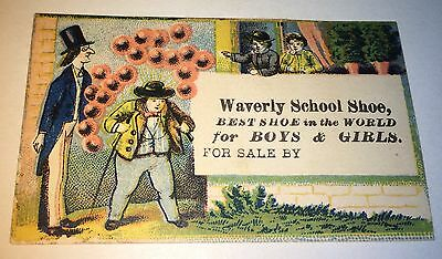 Rare Antique C1890 Victorian American School Shoe Advertising! Ballon Trade Card
