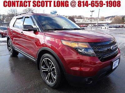 2015 Ford Explorer Sport 2015 Explorer Sport 4WD Ruby Red Loaded 2015 Ford Explorer Sport 4x4 Navigation Heated Cooled Leather AWD Ruby Red 4WD