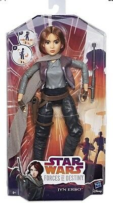 """Star Wars Forces of Destiny Jyn Erso 11"""" Action Figure Doll New & Sealed"""