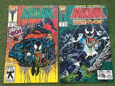 Darkhawk lot of 2 Marvel Comics #13 and 14 VENOM  / 1992 (NM/MN)