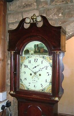 A Georgian Oak Cottage Antique Longcase Grandfather Clock C1820