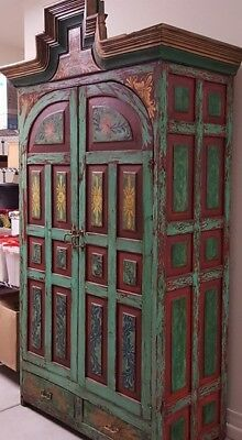Hand Painted Mexican Armoire