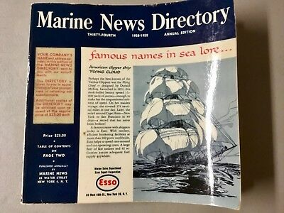 Vintage 1958-59 Commercial Maritime Catalog, MARINE NEWS DIRECTORY, Great Info!