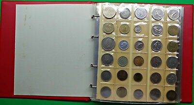 Foreign World Coin Collection in Album 316 Coins Many Different  lbs bulk lot !!