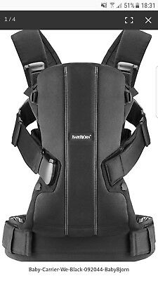 Babybjorn WE carrier in black in great condition