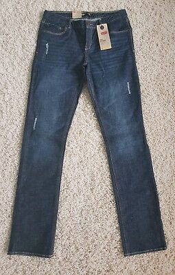 LEVIS slim straight boys size 16 R Jeans NWT