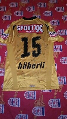 Young Boys Home football shirt 2007 - 2008 #15 Thomas Häberli