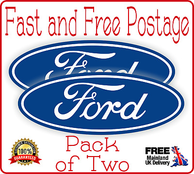 2 x Ford Style Oval logo badge vinyl sticker decal fiesta Fast Ford Focus ST New