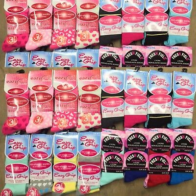 48 Pairs Of Ladies Non-Elastic Socks Assorted Size 4-6 Wholesale Job Lot.