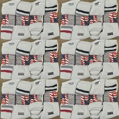 60 Pairs Of Mens White Sport Socks Assorted Size 6-11 Wholesale Job Lot