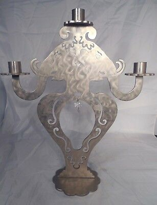 AMY HESS Modern Art Laser Steel Elephant Candelabra Ark NY Candle Stand Holder
