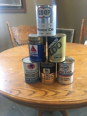 Selection Of Vintage Oil Cans