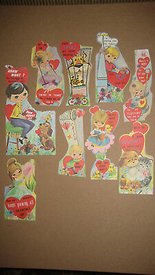 Vintage Valentine Card Lot Of 9 Misc.Hippie Graphics 60's Epherma Lot #9 UNUSED