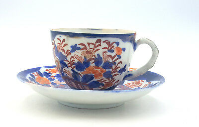 Antique Japanese Imari Porcelain Cup and Saucer