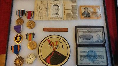 WW2 23rd Bomb Group Patch and Medals Lot