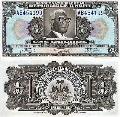 HAITI 1 Gourde Banknote World Paper Money UNC Currency Pick p200 1972 Bill Note