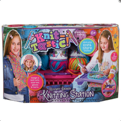 New Knit-Tastic Knitting Station Set Creative Design Playset Toy  FREE SHIPPING
