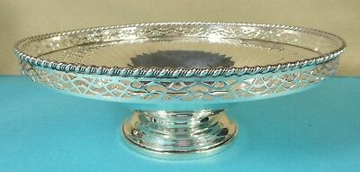 Beautiful Sterling Silver Bowl Pierced Gadrooned Rim Fluted John Lunn 1954