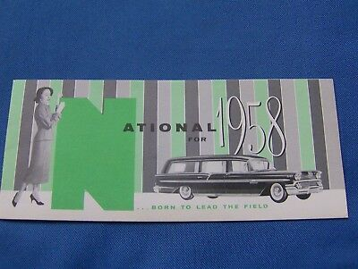 1958 National Coaches Dealer Brochure Funeral Coach Hearse Ambulance Chevrolet