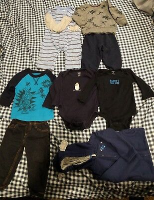 Lot Of Baby Boy Clothes 12 Month 8 Pieces Winter Mix Brands      #27