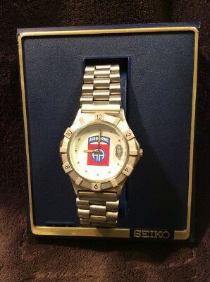 Vintage 1983 Seiko Quartz Watch Japan New In Box New Old Stock Stainless Steel