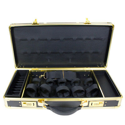HairArt Barber Case Black & Gold #791530 Barber Kit Tool Case Tools Not Included